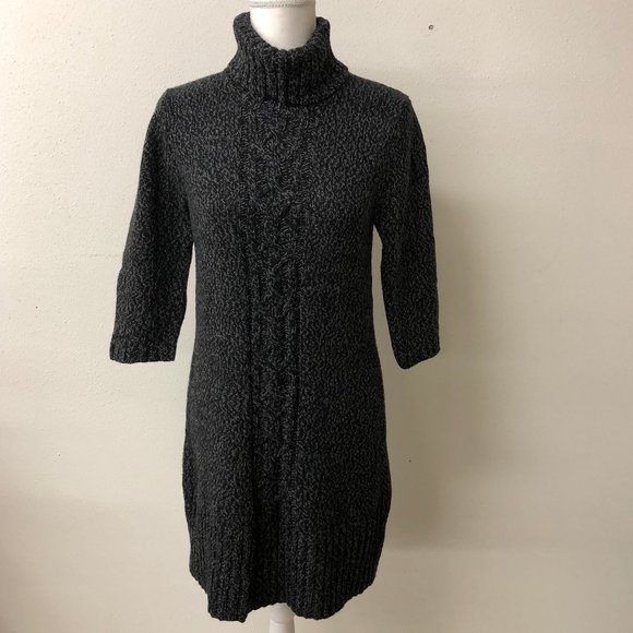 Old Navy Black Knitted Sweater Dress